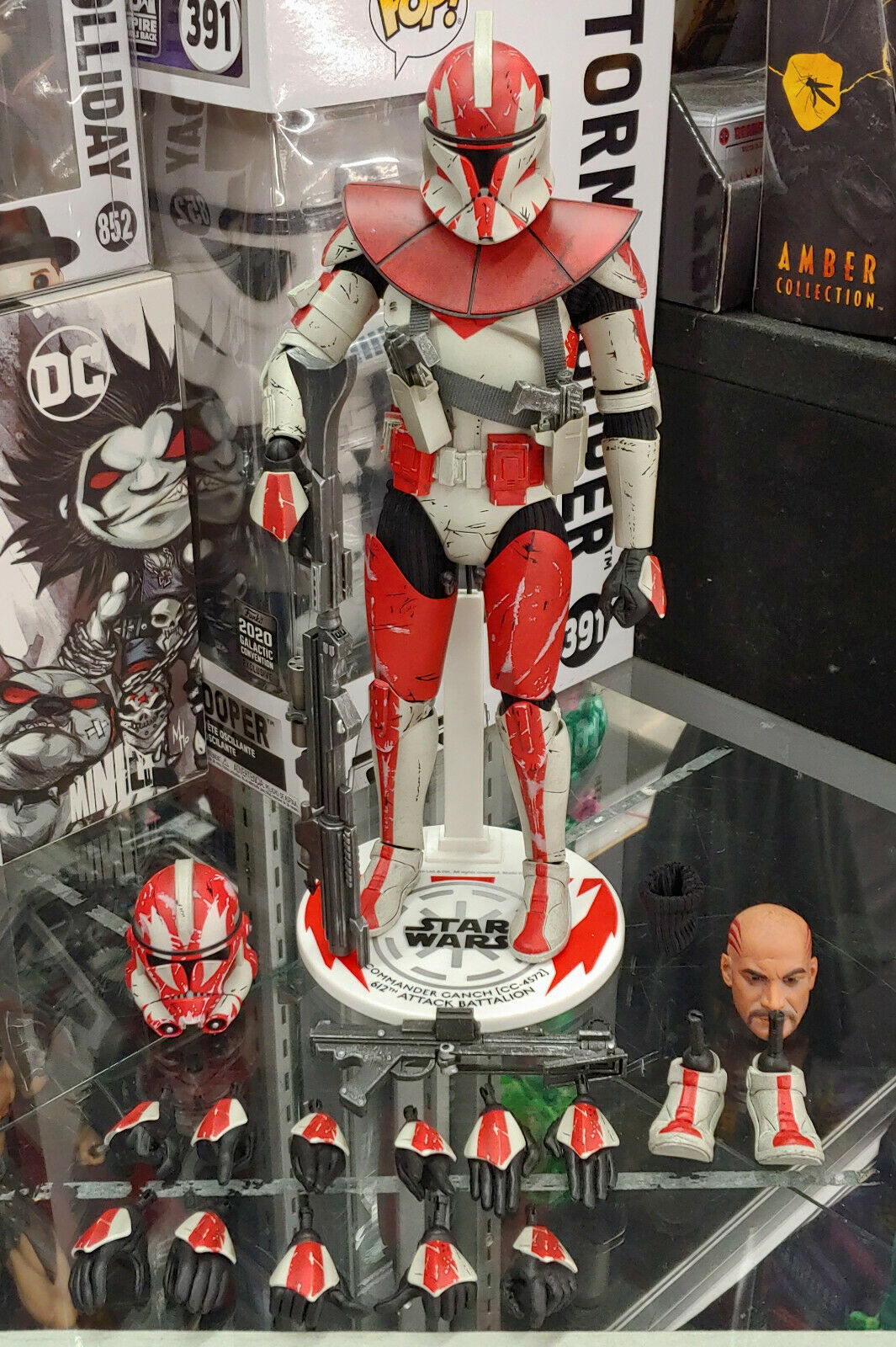 """SIDESHOW STAR WARS COMMANDER GANCH EXCLUSIVE 12"""" 1/6 CLONE WARS DISPLAYED LOOSE on eBay thumbnail"""