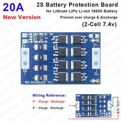 2PCS 2S 3A 7.4 8.4V Li-ion 18650 Lithium Lipo Battery BMS Protection Board zeSJC