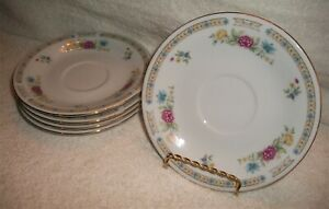 Liling-Fine-China-Yung-Shen-LING-ROSE-Dinner-Plate-s-4-10-1-2-034-plates