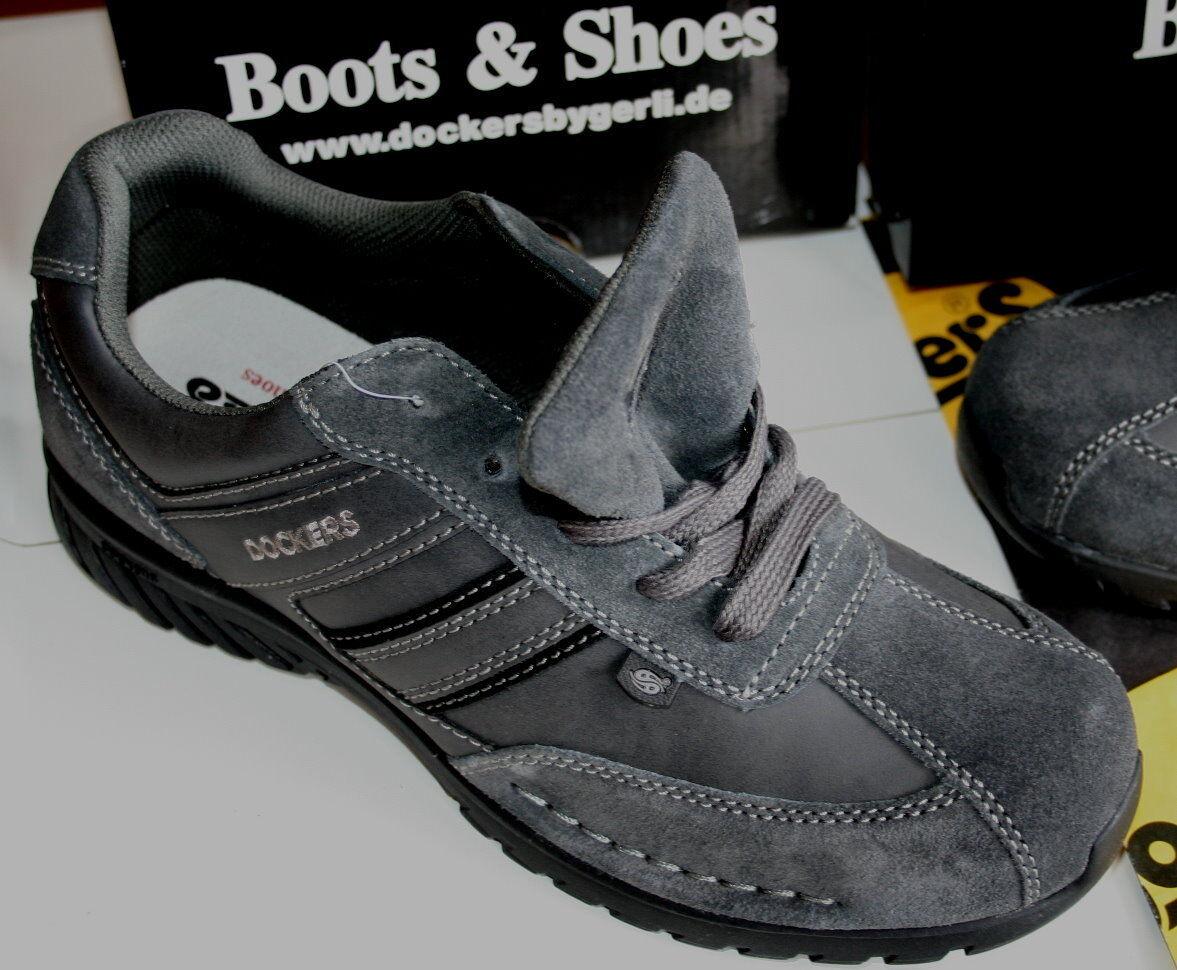 DOCKERS  MOCASSIN dark grau  echt Leder Leder Leder Velours usw  41  | Maßstab ist der Grundstein, Qualität ist Säulenbalken, Preis ist Leiter  2be359