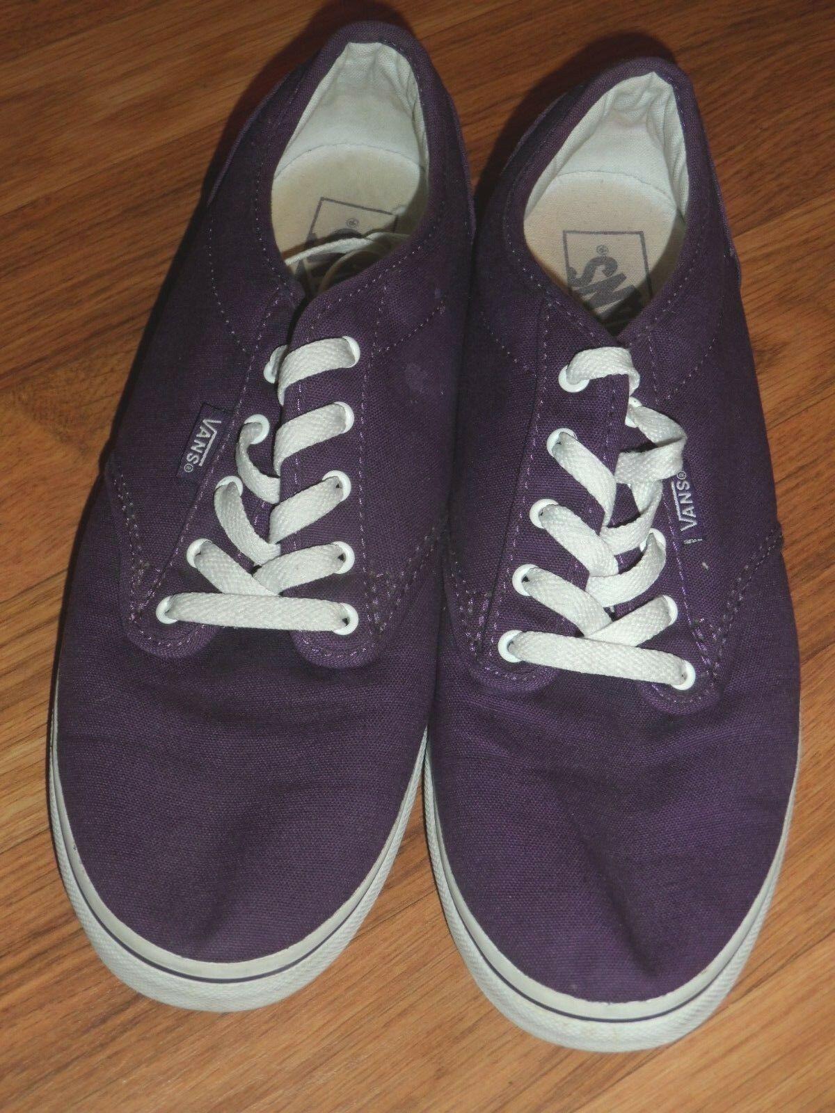 Women 10 men 8.5   purple lo pro    Vans shoes  EUC