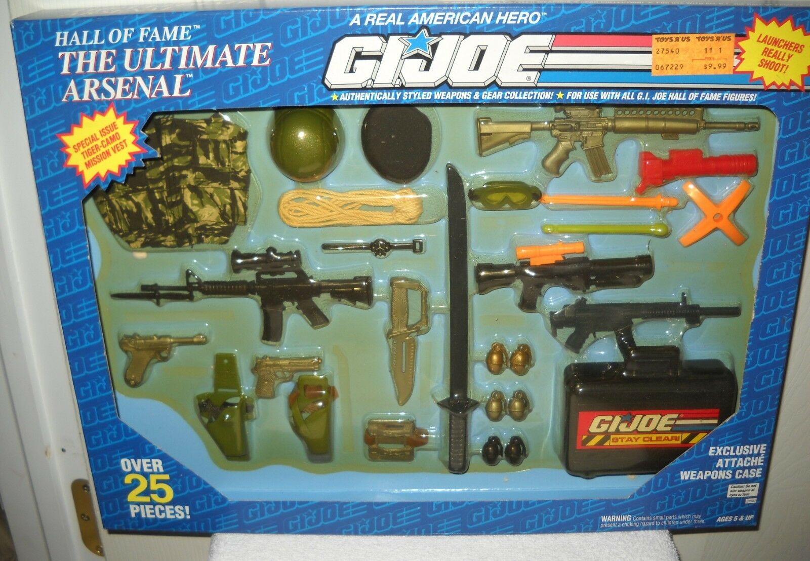 9910 nrfb vintage hasbro gi joe hall of fame der ultimative arsenal mission ausrüstung
