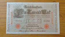BANCONOTA GERMANIA REICHSBANKNOTE 1000 MARK 1910 con TIMBRO BANCO CAMBIO TORINO