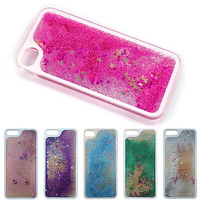 Floating Liquid Glitter Stars Quicksand Hard Case Cover for iPhone 4 4S 5 5S