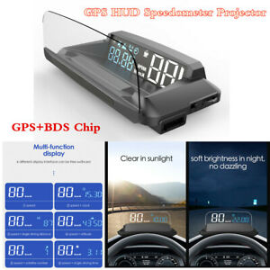 USB-coche-GPS-Digital-Head-Up-Visualizacion-HUD-Proyector-Velocimetro-advertencia-de-exceso-de