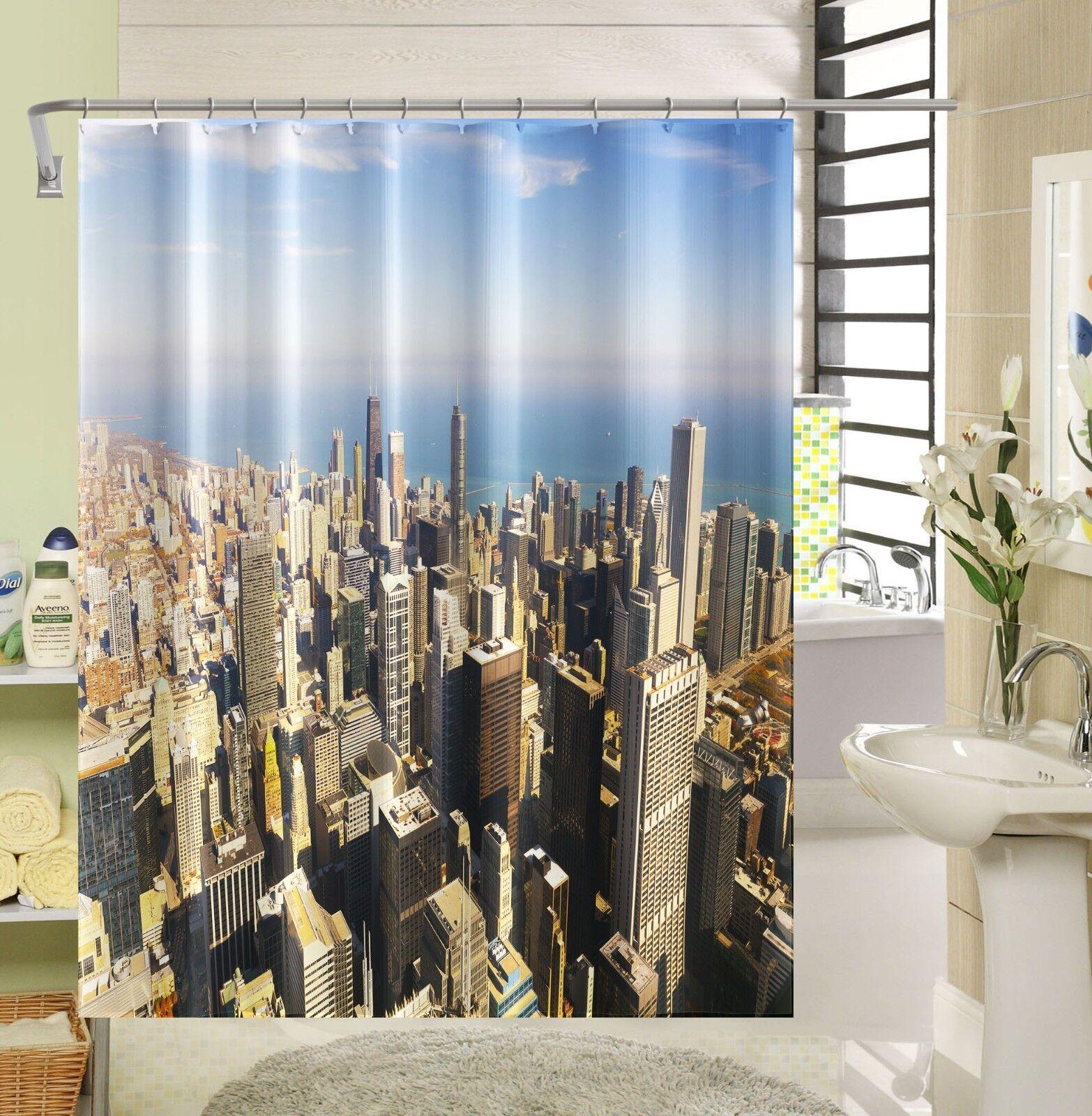3D Modern Stadt Stadt Stadt 35 Duschvorhang Wasserdicht Faser Bad Daheim Windows Toilette DE   Ausgezeichnet    Starke Hitze- und Hitzebeständigkeit  09ff3e