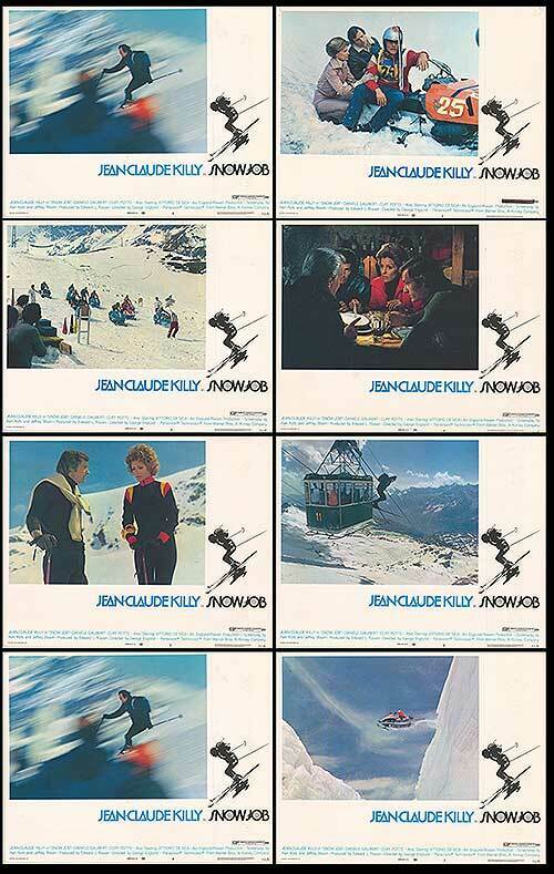 SNOW JOB original 1972 lobby cards JEAN-CLAUDE KILLY 11x14 movie posters