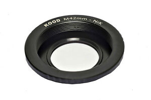 Nikon-F-Body-to-M42-Lens-Adapter-Glass-Element-Focus-on-Infinity