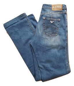 Armani Jeans Pantalones Hombres Algodon Elastano Elastica Azul Talla 30 Ebay