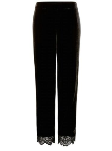 Bnwt Pigiama Baker nero velluto 12 pizzo in floreale Bottom Ted Set Top Size in qOF50q