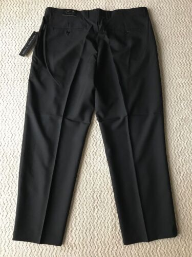 NWT Men/'s Victorio Cuture Black Flat Front Dress Pants Slacks ALL BIG SIZE 44-56