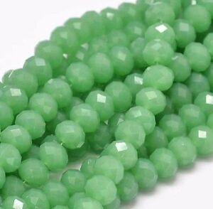 15 jade stein perlen 8mm gr n rondelle halbedelstein edelstein best g314 ebay. Black Bedroom Furniture Sets. Home Design Ideas