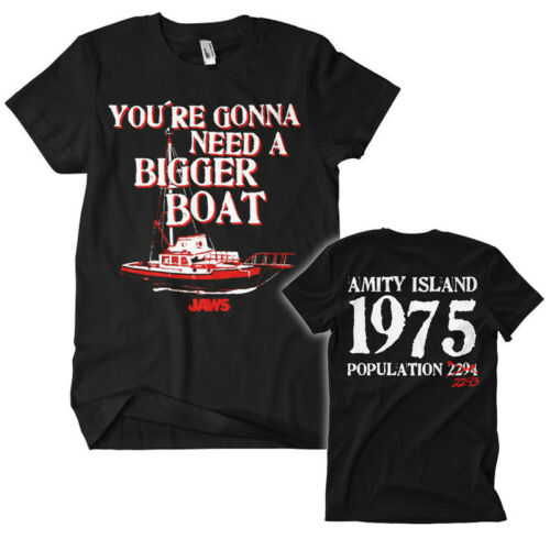 JAWS BIGGER BOAT T-Shirt  camiseta cotton officially licensed
