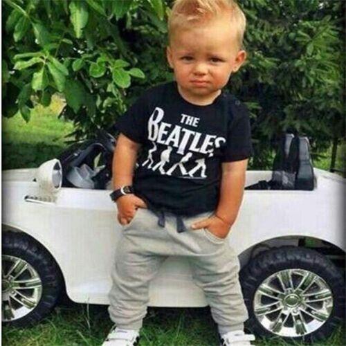 Kinder Baby Jungen Freizeit Kurzarm T shirt Jogging hose Sommer Sets Kleidung