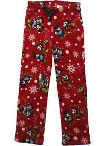 Junior Para Mujer Disney Mickey Minnie Mouse Polar Pantalon De Pijama Pantalones Dormir Ebay
