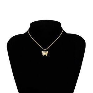 Butterfly Charm Pendant Leather Necklace Chain Collar Cadena De Mariposa