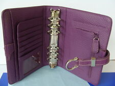 """Compact 1.25"""" Ring COW SUEDE LEATHER Franklin Covey Planner BINDER ~ Dusty-Lilac"""