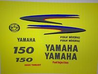 Yamaha Outboard Motor Decal Kit 150 Hp 4 Stroke Kit - Marine Vinyl Not Ink-jet