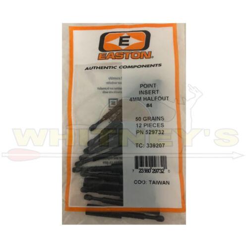 12PK -339207 Easton Point Insert 4MM HalfOut #4-50 Grains