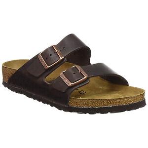 Birkenstock Arizona Nubuck Leather Oiled Unisex Shoes Slides Sandals Habana EU 40 / UK 7 Narrow