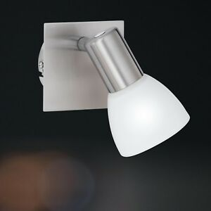 WOFI-lampara-de-pared-ANGOLA-1-Luz-Niquel-Cristal-Blanco-Spot-ajustable