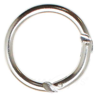 20 X D-Form Karabinerhaken Schnapphaken Schlüsselanhänger Keychain Silber