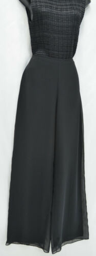 Marie St. Claire evening palazzo pants black semi