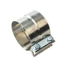 "2.5"" Stainless Steel Lap Joint Exhaust Clamp for Catback Muffler Downpipe T304"