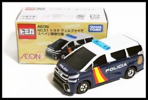 Tomica AEON NO.51 Toyota Vellfire Spanish Police Car Specification 1//65 TOMY 84