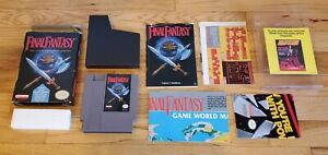Final-Fantasy-1-I-Nintendo-NES-RPG-Game-Complete-CIB-Box-Map-Chart-Manual-lot