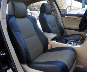ACURA TL BLACKCHARCOAL SLEATHER CUSTOM FRONT SEAT COVER - 2004 acura tl seat covers