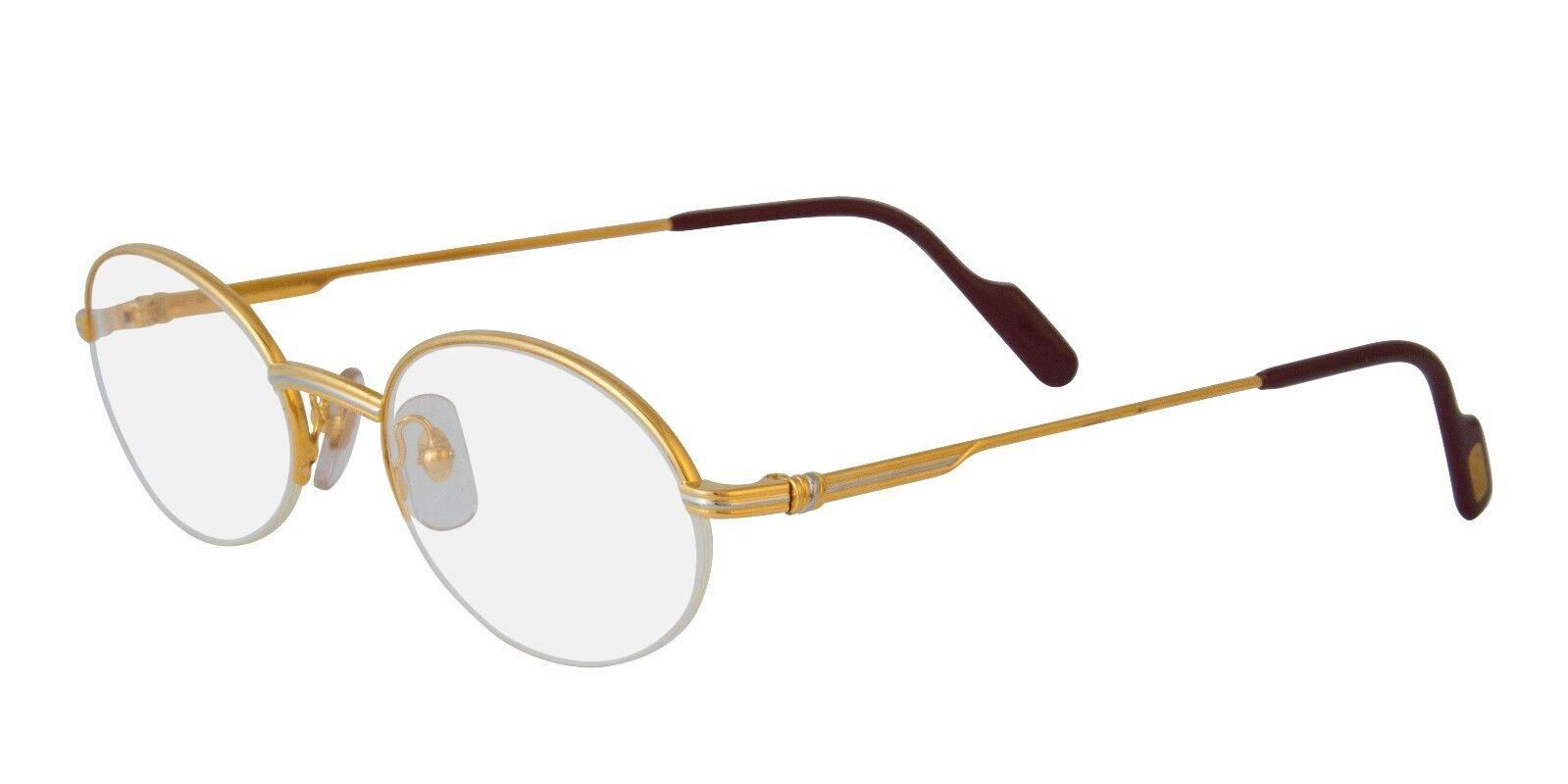 a81bac0c51c0 Cartier Eyeglasses T8100354 Gold Round Optical Frame France 51mm ...