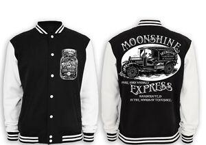 Moonshine Express Zipperjacke Whiskey Rockabilly Redneck Vintage Rebel Fun KULT
