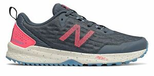 New-Balance-Women-039-s-NITREL-v3-Trail-Shoes-Grey-with-Pink