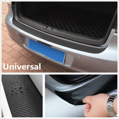 Universal 4D Carbon Fiber Car Rear Bumper Tail Lip Protect Decal Sticker Strip