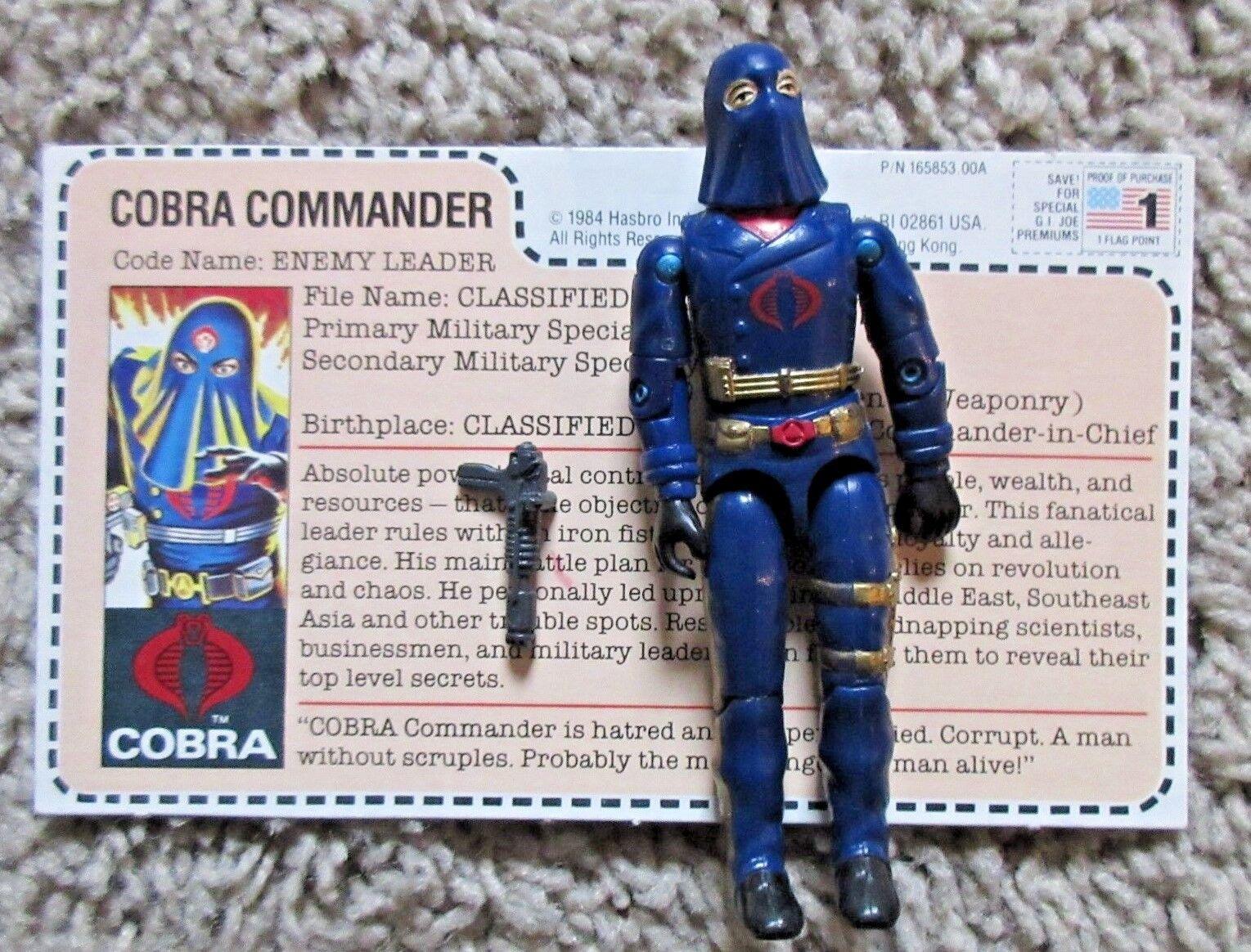 G.I. Joe Vintage Cobra Commander correo lejos con Capucha figura 3.75  completa GI