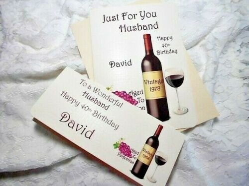 PERSONALISED  BIRTHDAY CARD /& WALLET HUSBAND,SON,BROTHER,NEPHEW,30,40,50,60
