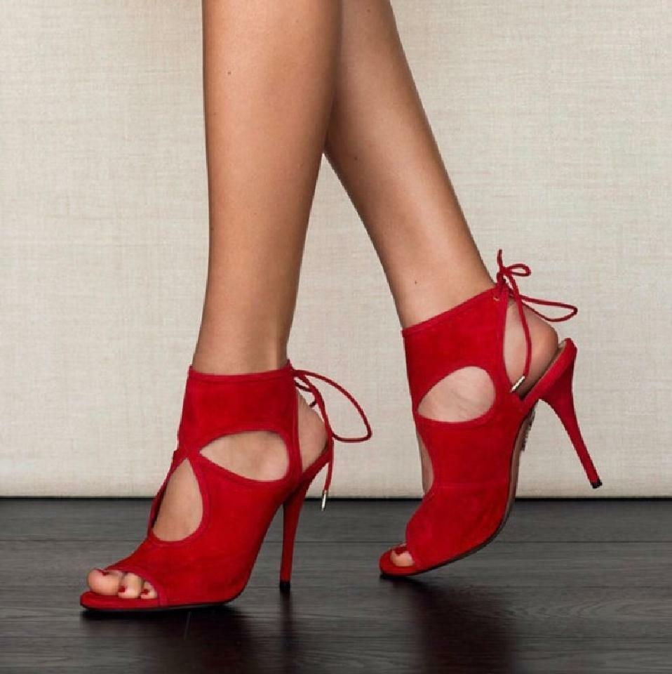 NWB AQUAZZURA red sandals Sz Sz Sz 39.5 red 92b8c7