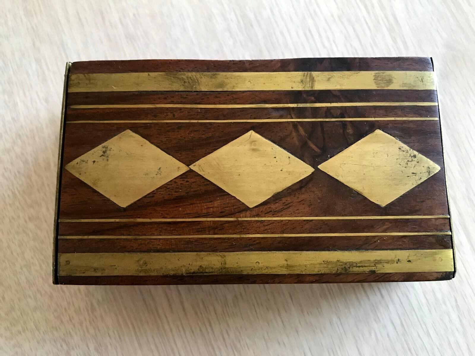 Wooden gold Decor Men's Jewelry Box 3 x5 x1 5  Original Box Concepts