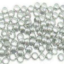 500 PEZZI 1.5mm-2mm argento placcato rotonda aggraffatori Stopper Beads a6708
