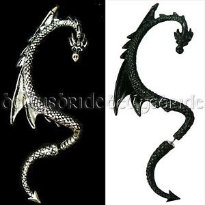 Alchemy-Gothic-The-Dragon-039-s-Lure-Earring-Jewellery-Right-Ear-Goth-stud-cuff
