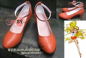 Cosplay Sailor moon sailor venus Aino Minako Anime Schuhe Handarbeit Gr.34-42