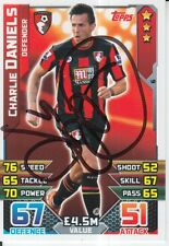 CHARLIE DANIELS HAND SIGNED BOURNEMOUTH MATCH ATTAX CARD 15/16.