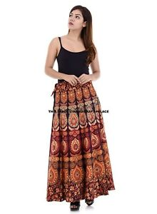 723066d6d Image is loading Indian-Cotton-Skirt-Wrap-Around-Mandala-Rapron-Women-