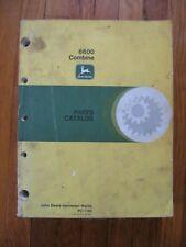 John Deere 6600 Combine Parts Catalog Manual Pc 1166