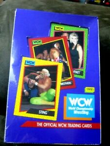 1991 Official WCW sealed Box World Championship Wrestling Trading Cards