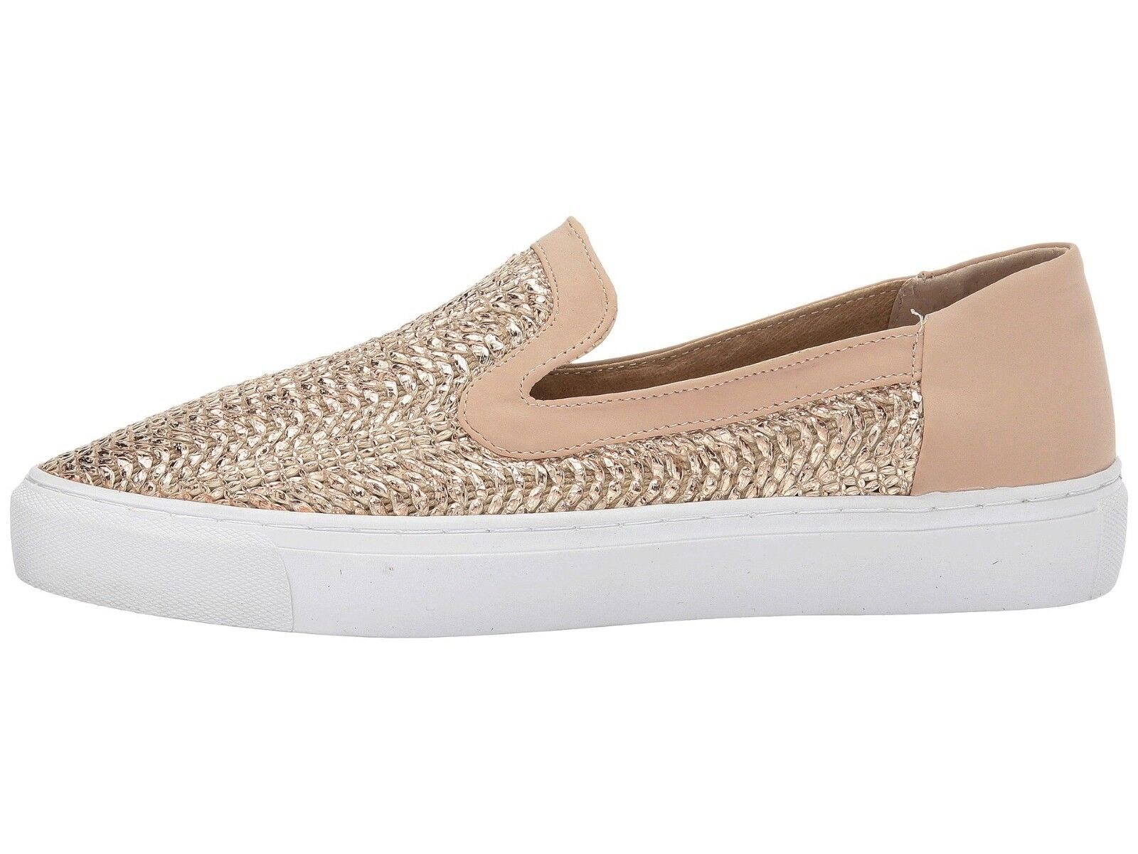 Steven Steve Madden Kenner Casual Sneaker Metallic Rose Gold Slip-On Schuhe Sz 9.5