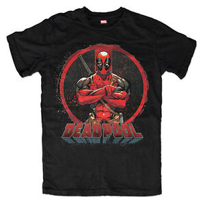 eb865d58 DEADPOOL Men's Tee T-Shirt Antihero Marvel Comics LOGO Fathers Day ...