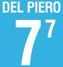 Italy Del Piero Nameset 2002 Shirt Soccer Number Letter Heat Print Football Home