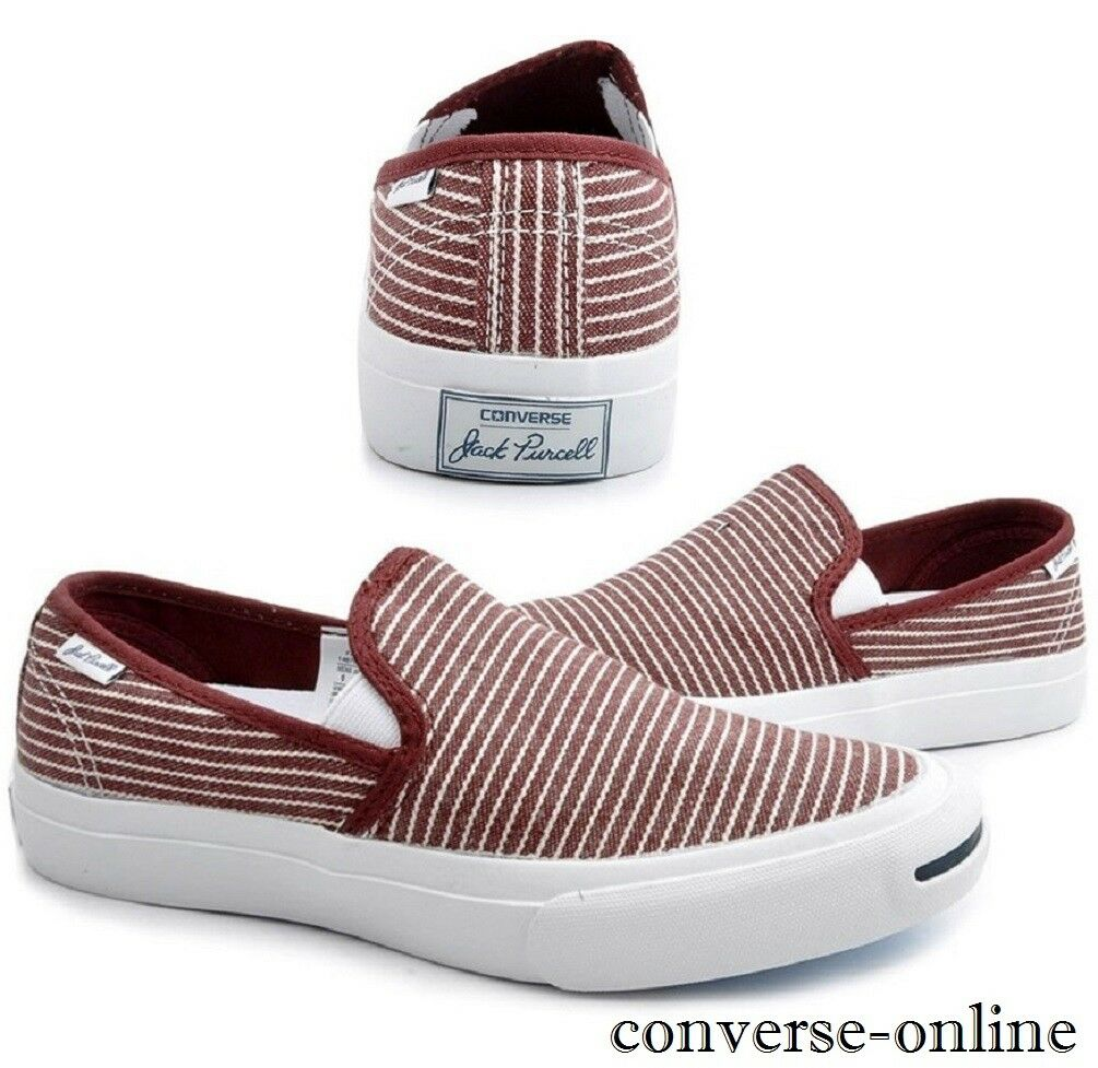 Men All Women CONVERSE All Men Star JACK PURCELL Striped SLIP ON Trainers Shoe UK SIZE 7 603df1